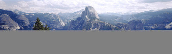 Dome Peak Photograph - Half Dome High Sierras Yosemite by Panoramic Images
