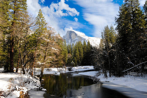 Photograph - Half Dome In Winter by Don and Bonnie Fink