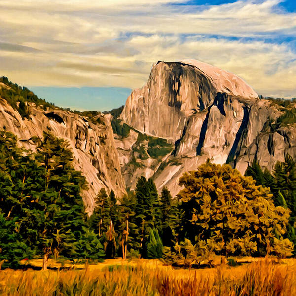 Painting - Half Dome Painting by Bob and Nadine Johnston