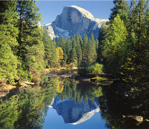 Photograph - 2m6708-half Dome Reflect by Ed  Cooper Photography