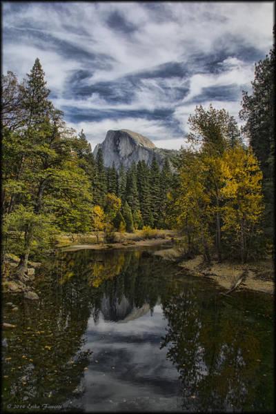Photograph - Half Dome Reflection by Erika Fawcett