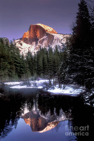 Photograph - Half Dome Reflection Yosemite National Park California by Dave Welling