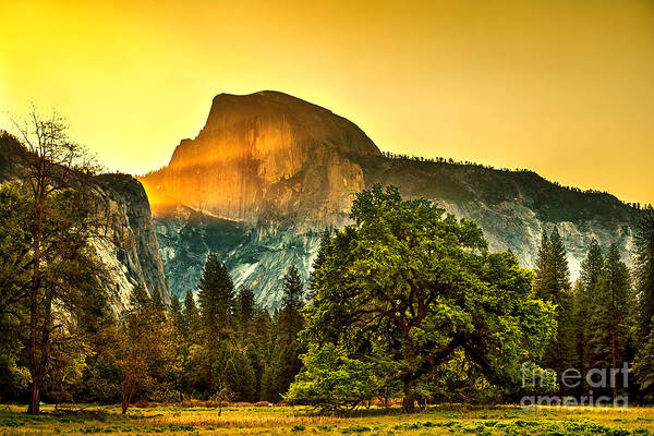 Beautiful Park Photograph - Half Dome Sunrise by Az Jackson
