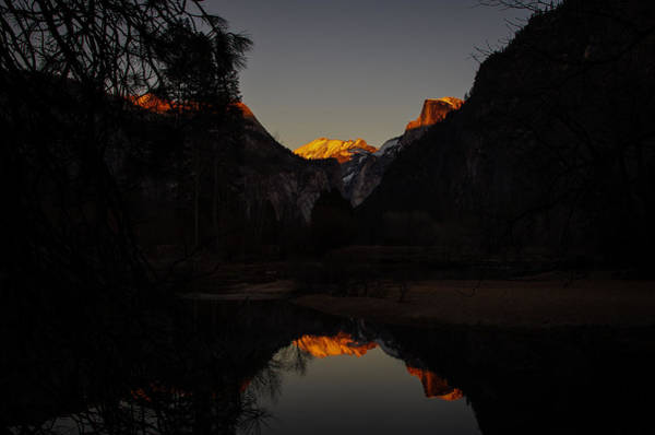 Photograph - Half Dome Sunset Reflection by Scott McGuire