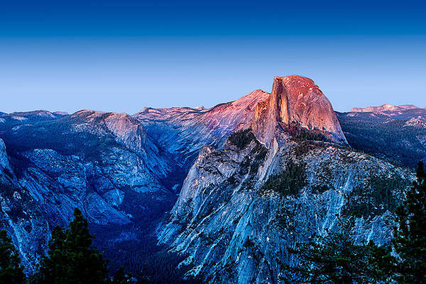California Mountains Photograph - Half Dome Twilight by Peter Tellone