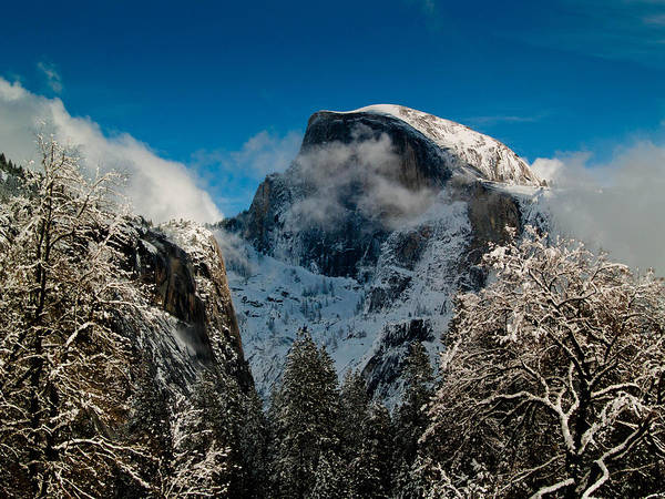 Dome Peak Photograph - Half Dome Winter by Bill Gallagher