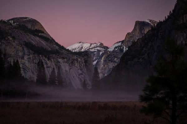 Photograph - Half Dome Winter Sunset by Scott McGuire