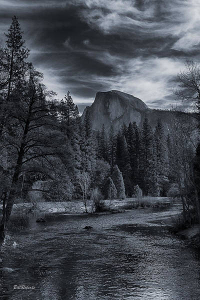 Merced River Photograph - Half Dome With Clouds by Bill Roberts