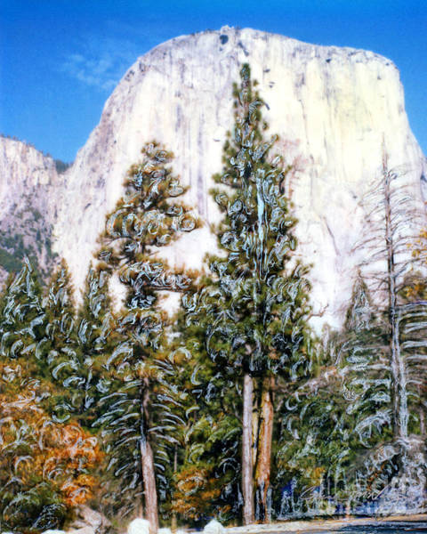 Mixed Media - Half Dome Yosimite Park by Glenn McNary
