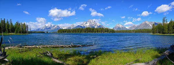 Photograph - Half Moon Bay Teton Panorama by Greg Norrell