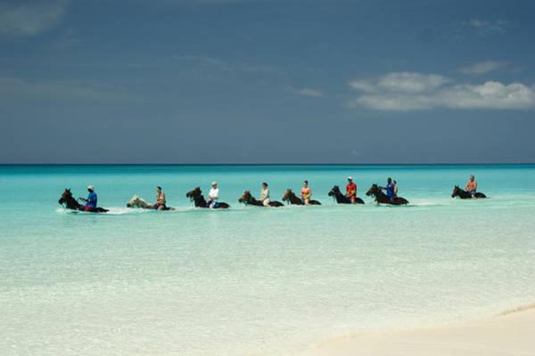Horseback Photograph - Half Moon Cay Bahamas Beach Scene by David Smith