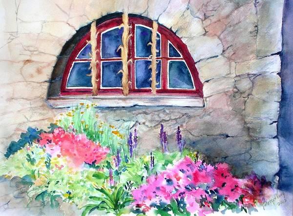 Painting - Half Moon Window by Betty M M Wong