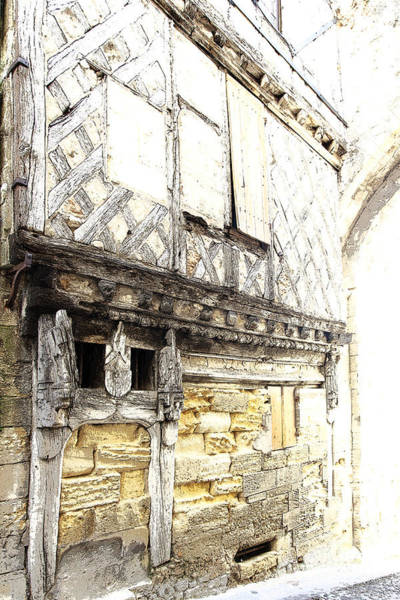 Photograph - Half-timbered Facade In Saint-emilion by Heiko Koehrer-Wagner