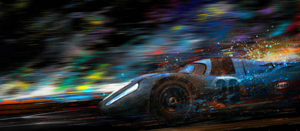 Le Mans 24 Painting - Half Way Home by Alan Greene