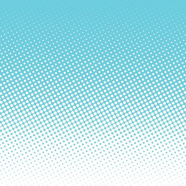 Shapes Digital Art - Halftone Background, Pop Art Design by Bobnevv