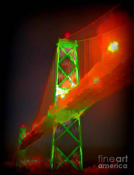 Halifax Nova Scotia Digital Art - Halifax Macdonald Bridge Abstract by John Malone