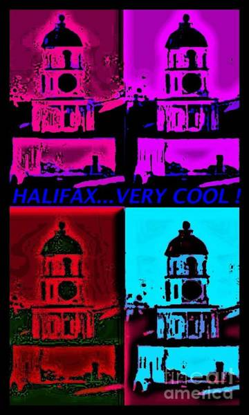Halifax Nova Scotia Digital Art - Halifax Very Cool Pop Art by John Malone