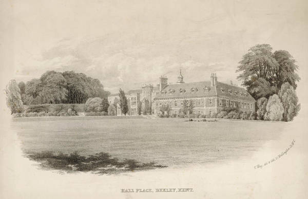 Wall Art - Drawing - Hall Place, Bexley, Kent,  England by Mary Evans Picture Library