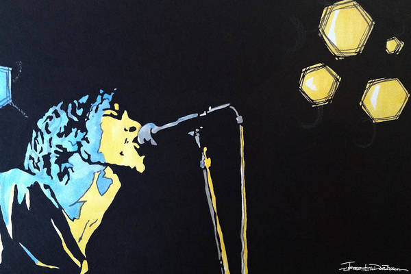 Jeff Buckley Wall Art - Painting - Hallelujah by Jerrett Dornbusch