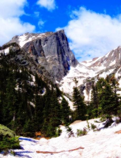 Photograph - Hallett Peak Rocky Mountain National Park by Dan Sproul