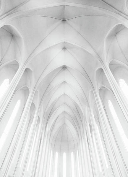 Cathedral Photograph - Hallgrimskirkja Church  In Iceland by Charles Cho