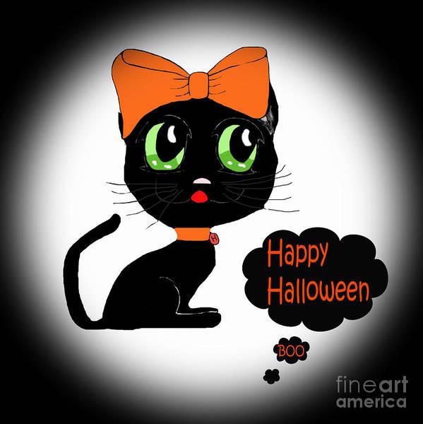 Wall Art - Photograph - Halloween Black Cat by Eva Thomas