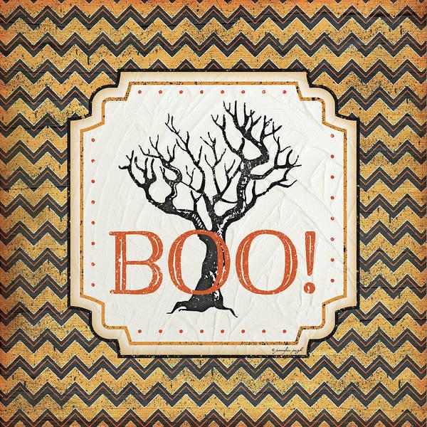 Halloween Painting - Halloween Boo by Jennifer Pugh