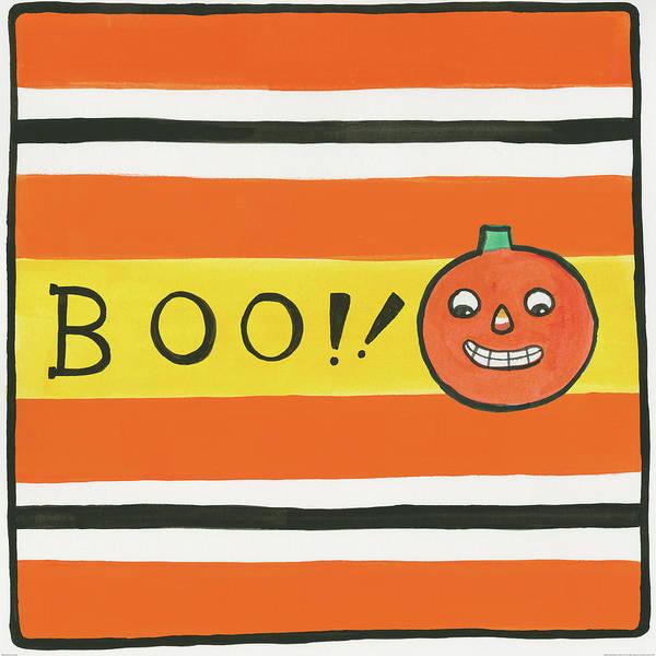 Boo Wall Art - Painting - Halloween Boo Pumpkin by Melissa Averinos
