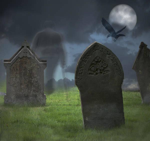 Church Yard Wall Art - Photograph - Halloween Graveyard by Amanda Elwell