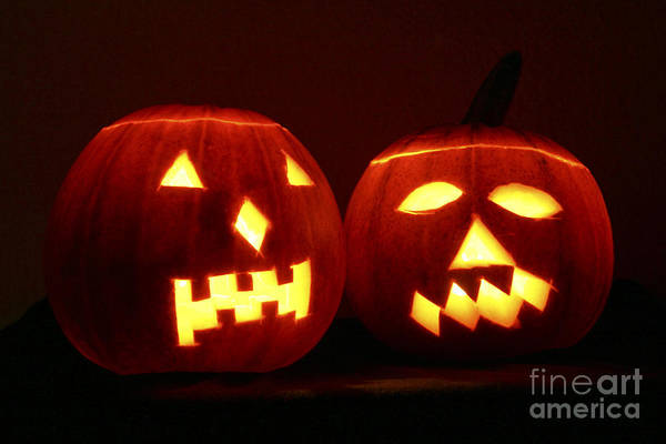 Photograph - Halloween Jack Olanterns by Bsip