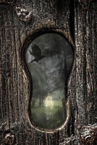Forest Spirit Wall Art - Photograph - Halloween Keyhole by Amanda Elwell