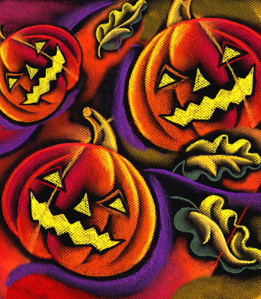 Wall Art - Painting - Halloween by Leon Zernitsky