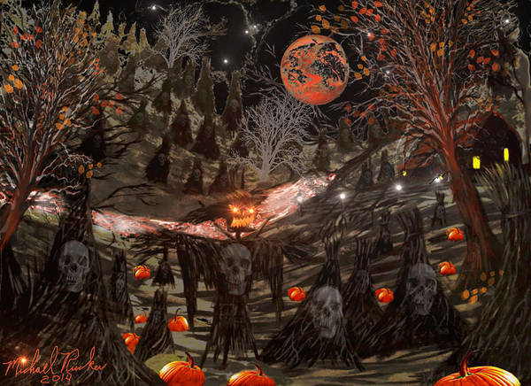 Painting - Halloween  by Michael Rucker