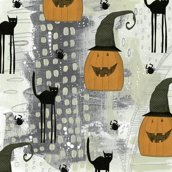Halloween Painting - Halloween Pattern 2 by Sarah Ogren
