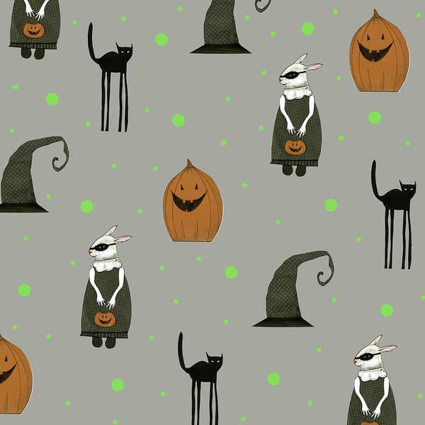 Halloween Painting - Halloween Pattern by Sarah Ogren
