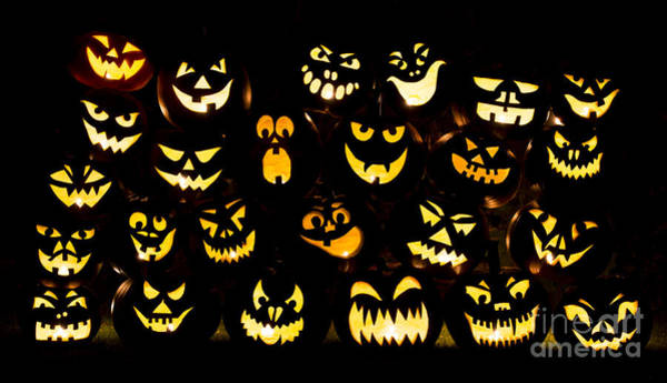 Halloween Photograph - Halloween Pumpkin Faces by Tim Gainey