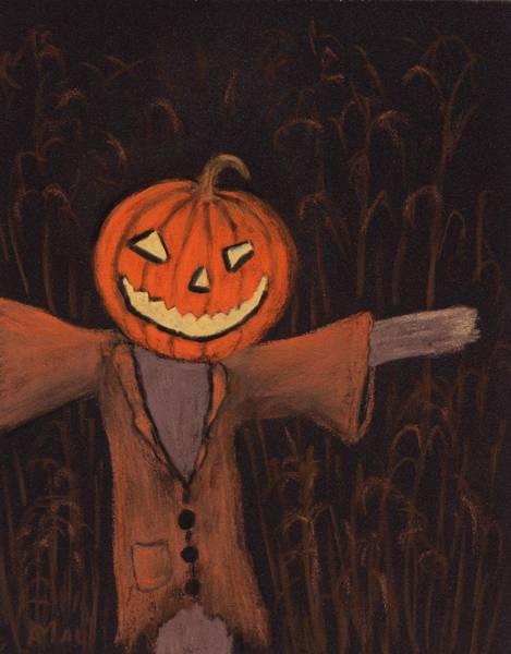 Painting - Halloween Scarecrow by Anastasiya Malakhova