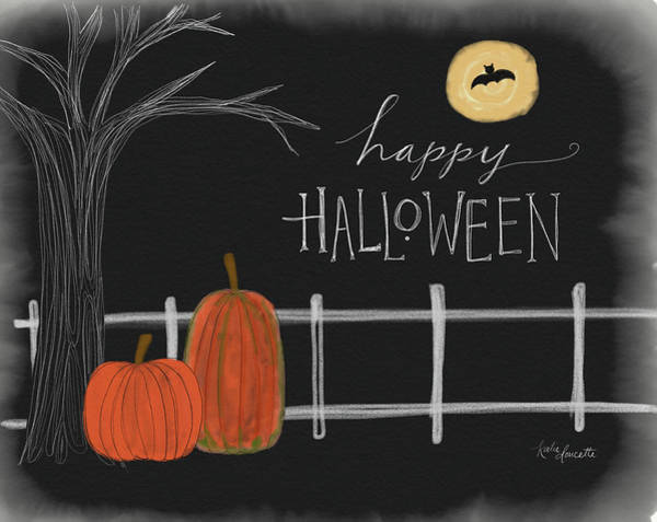 Full Moon Painting - Halloween Scene by Katie Doucette