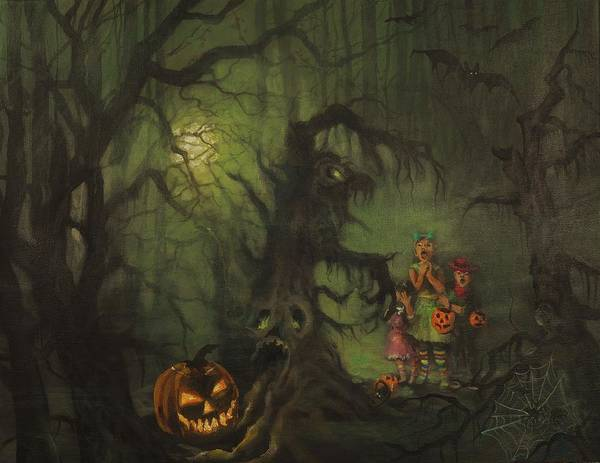 Wall Art - Painting - Halloween Shortcut by Tom Shropshire