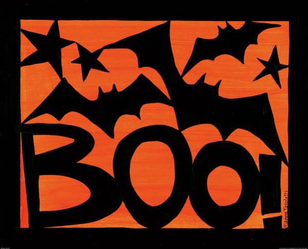 Boo Wall Art - Painting - Halloween Silhouette IIi by Anne Tavoletti