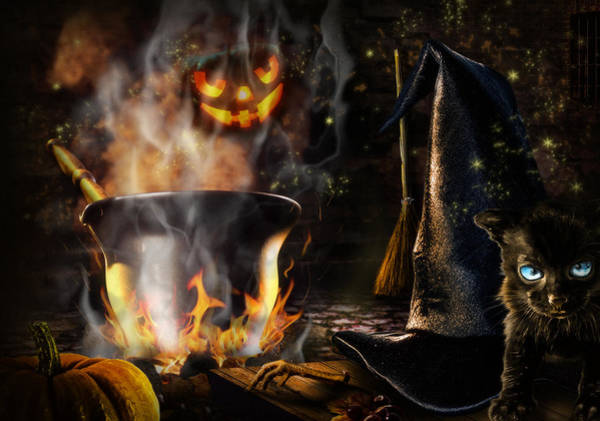 Red Brick Digital Art - Halloween' Spirit by Alessandro Della Pietra