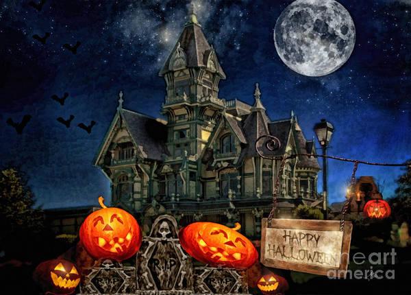 Victorian House Digital Art - Halloween Spot by Mo T