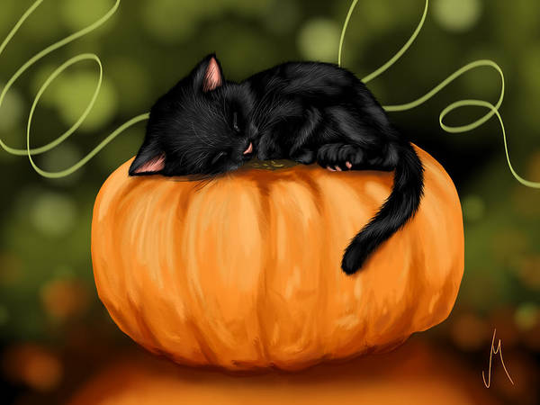 Pumpkin Digital Art - Halloween by Veronica Minozzi