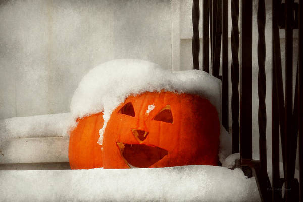 Photograph - Halloween - Winter - I'm Cold by Mike Savad