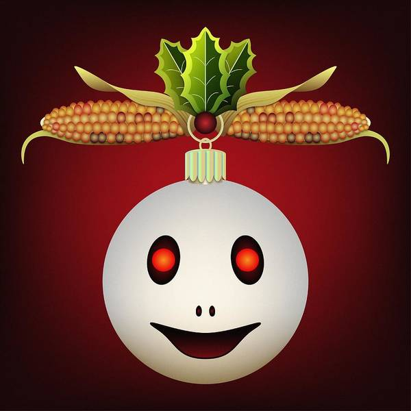 Digital Art - Hallowgivingmas Ornament Ghost by MM Anderson