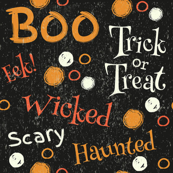 Boo Wall Art - Painting - Hallows Eve IIi by Nd Art & Design