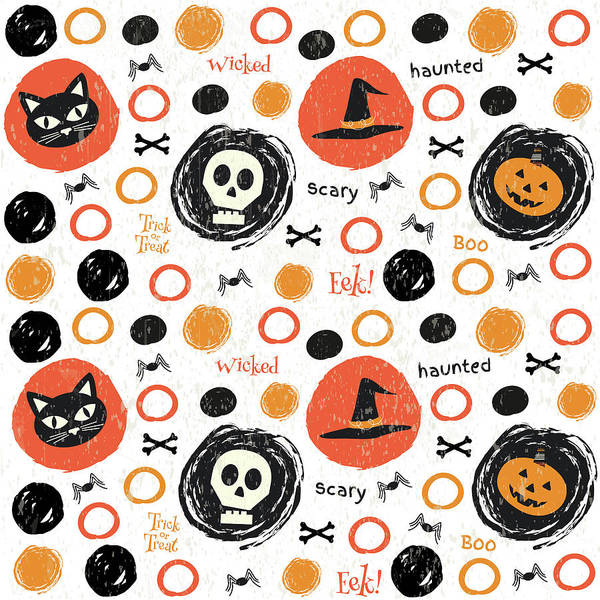 Boo Wall Art - Painting - Hallows Eve Iv by Nd Art & Design