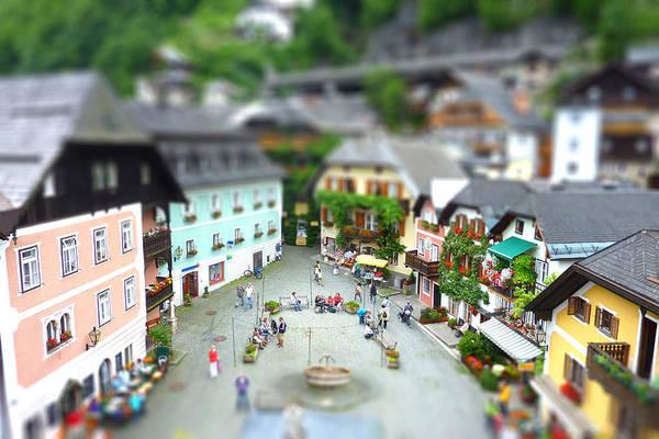 Photograph - Hallstatt Austria Market Square by Ericamaxine Price