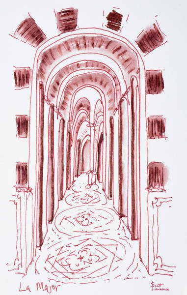 Wall Art - Photograph - Hallway In The Marseille Cathedral by Richard Lawrence
