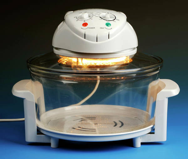 Infrared Radiation Photograph - Halogen Cooker by Public Health England